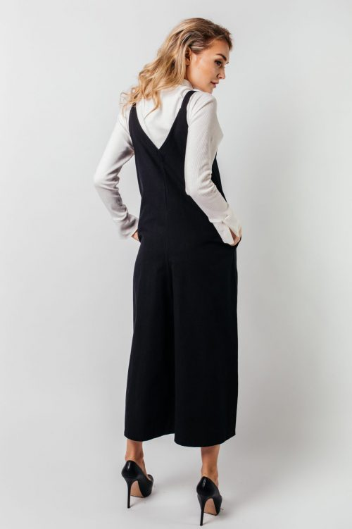 Black Avery Pocket Jumpsuit