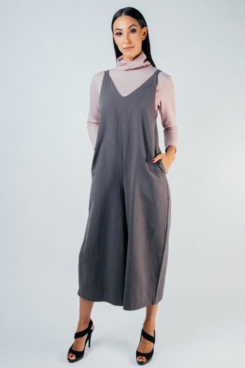 Grey Avery Pocket Jumpsuit