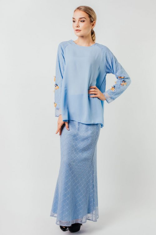 Light Blue Charlene Detailed Lace Set