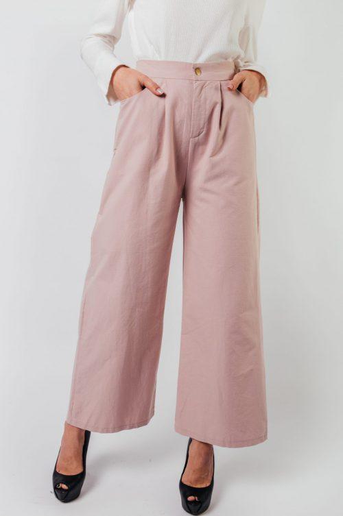 Pink Eva Pocket Wide Pants