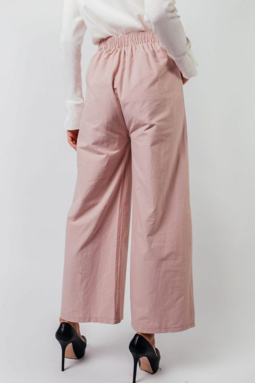 Pink Eva Pocket Wide Pants