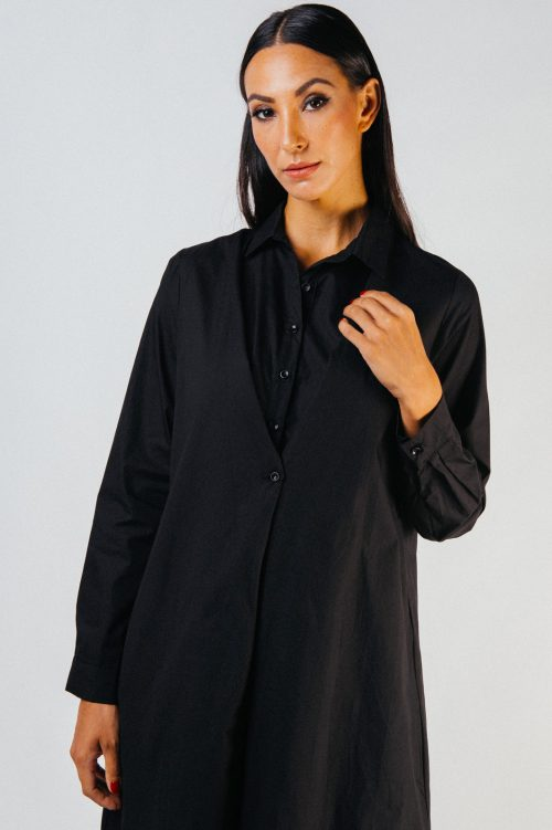 Black Gevia Button Tunic