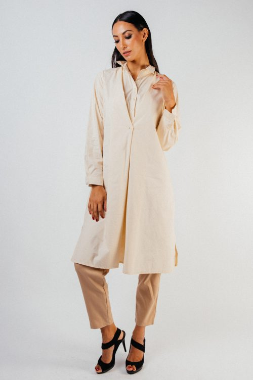 Beige Gevia Button Tunic