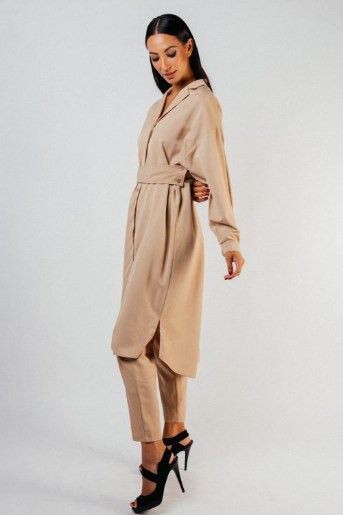 Brown Thyra Tunic with Belt