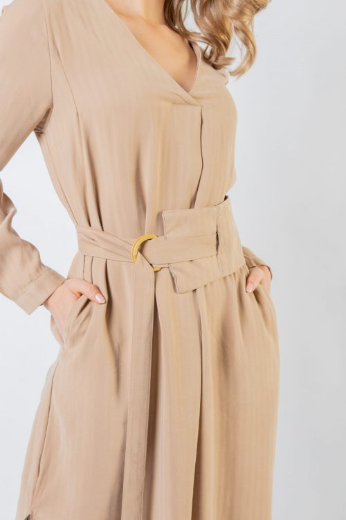 Brown Katy V Collar Tunic