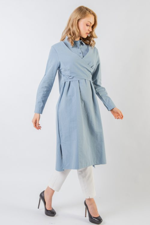 Light Blue Kate Cross Tunic