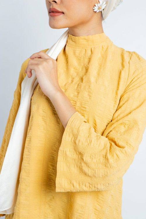 Yellow Wrinkled Comfy Blouse