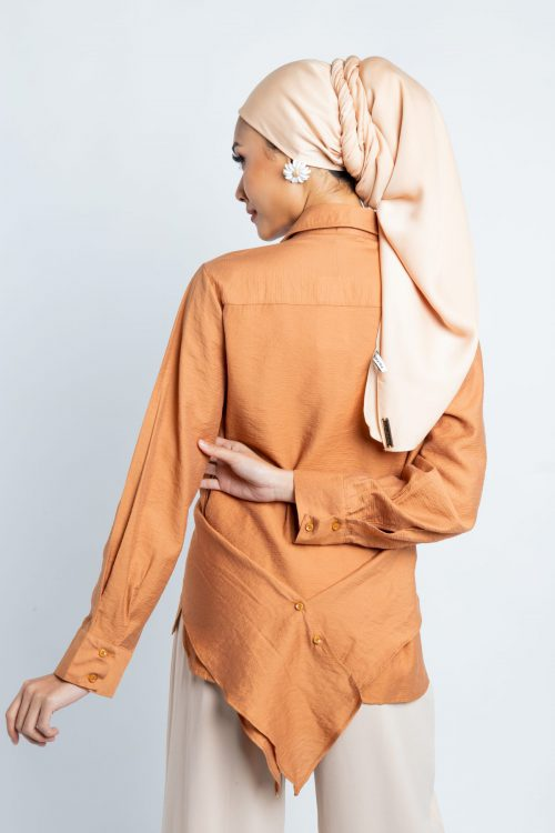 Brown Wrap Around Blouse