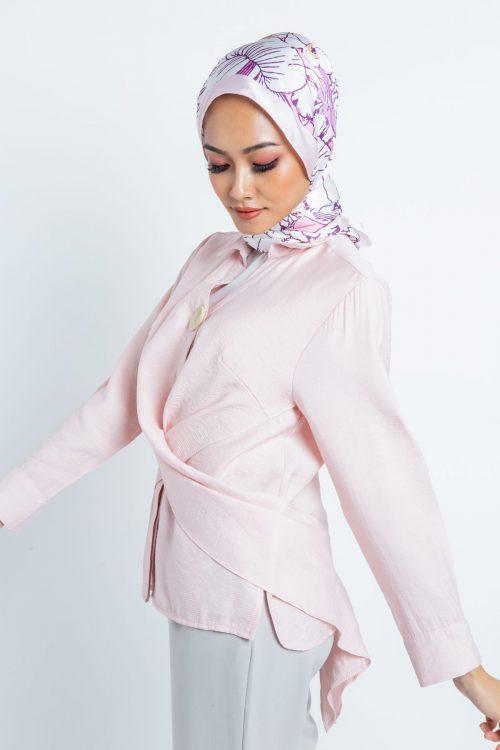 Pink Wrap Around Blouse
